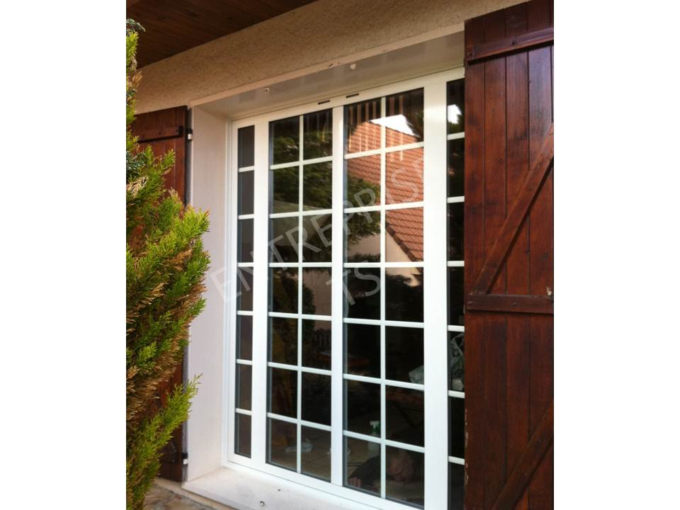 Porte fenêtre aluminium ouvrants cachés